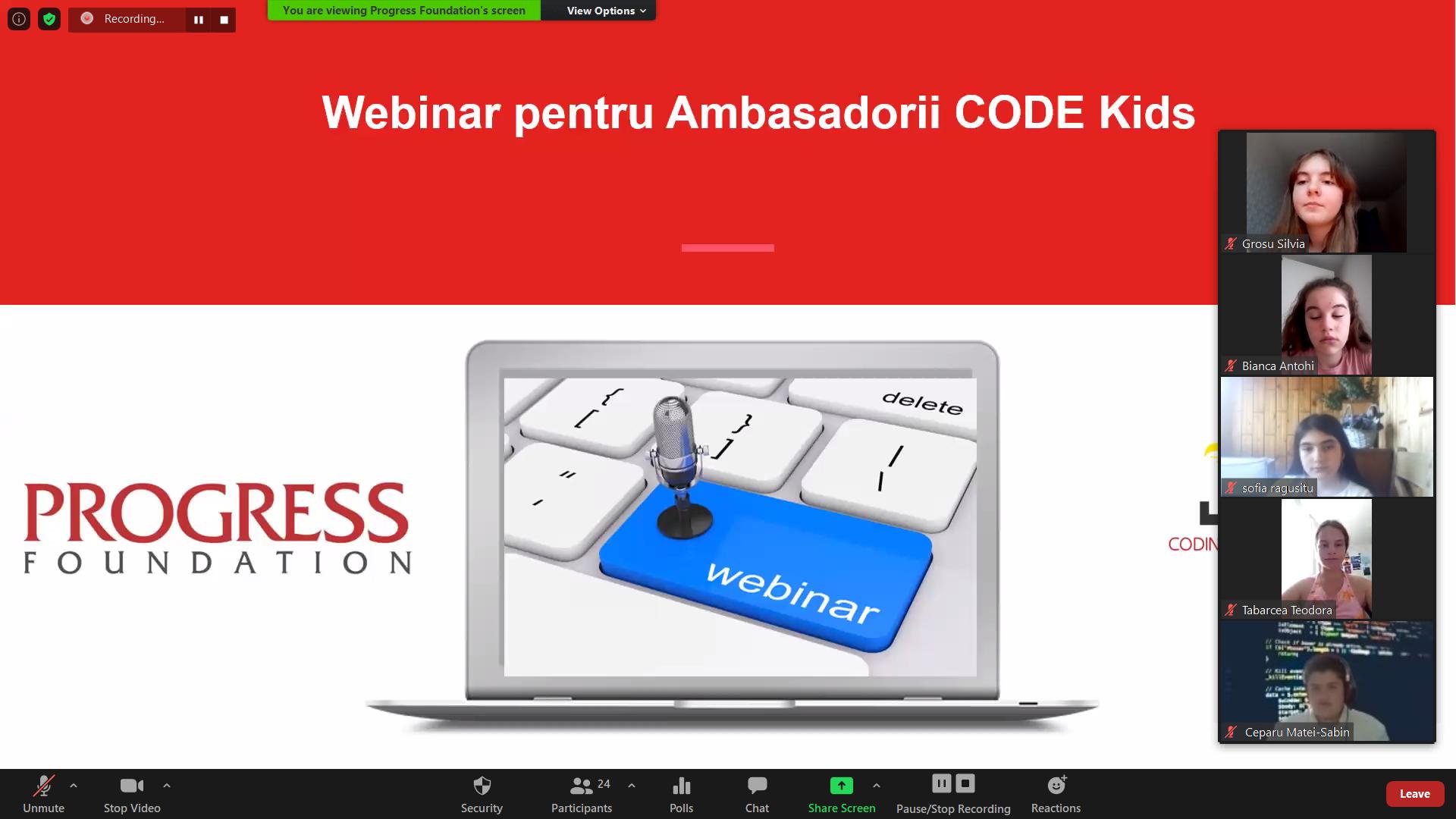 Ambasadorii CODE Kids – instruire interactivă despre rolul în clubul de programare de la biblioteca locală